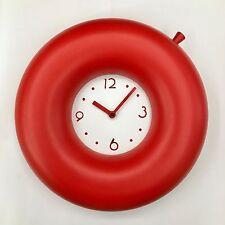 Orologio da parete DESIGN: Angela Cingolani PROGETTI SALVATEMPO  Ø35CM ROSSO