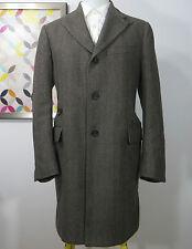 Corneliani ID Italy brown beige Wool Cashgora men's overcoat jacket coat 42 R