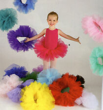 NWT 3 Layer Organdy Ballet Tutu Pullup Elastic Band Many Color Choices Girls Szs