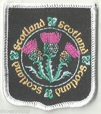 SCOTTISH EMBLEM THISTLE SCOTLAND CREST FLAG WORLD EMBROIDERED PATCH BADGE