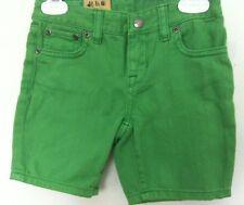 Ralph Lauren Shorts~Apple Green Denim~5 Pockets~Large Hot Pink Logo~Size 6~NWT