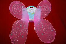 Fairy Wings  Ailes De Fee Angel Pixie Fairy Costume Pink Glitter Free Shipping