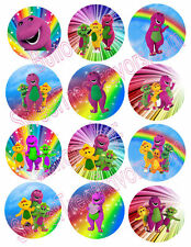BARNEY BABY BOP Party Supplies 12 PINS Buttons FAVORS Treats Birthday Dinosaur