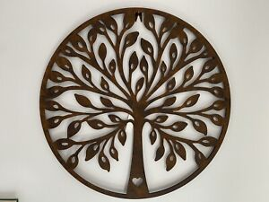 Extra Large Rustic Metal Tree Wall Art Garden Decoration - Rusty Indoor Outdoor
