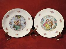 2 Royal Doulton Valentine'S Day Collector Plates - 1979 & 1980 Embossed England