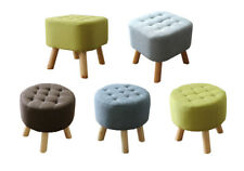 Sale! Fabric Rest Stool Footstool Chair Ottoman Rest Padded Top Pouffe Shapes