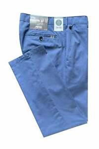 Meyer Rio Cotton Stretch Chinos - Blue