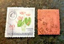 TRINIDAD STAMP - SCOTT #78 ONE PENNY BRITANNIA USED 1901