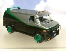 "1/24 GREENLIGHT 1983 GMC VANDURA VAN ""THE A-TEAM"" RARE CHASE MODEL GREEN STRIPE"