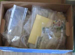 Worldwide Stamps lot. lot of 10,000 used stamps , off paper stamps. BOX Lot