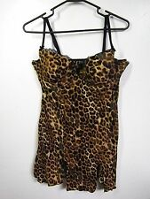 SMART AND SEXY WOMENS SIZE 38c ONE PIECE NEGLIGEE LINGERIE ANIMAL PRINT SEXY