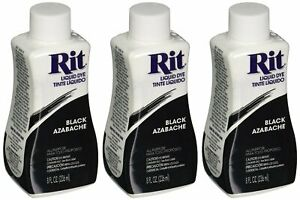 Pack Of 3 Rit Dye Liquid Fabric Dye Black 8 Oz Craft US SELLER New