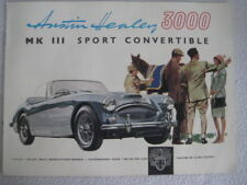 Austin Healey 3000 Mkiii Sport Convertible Original Sales Brochure In Dutch 2035