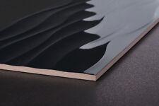 3D Super Black Waves High Gloss Ceramic Wall Tiles £19.19/m2 90X30 CUT-SAMPLE