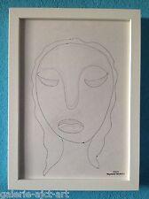 Raymond TRAMEAU Dessin 1960 Encadré George Braque Picasso Modigliani Visage