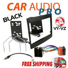 COMPLETE DOUBLE DIN INSTALL KIT FOR HOLDEN COMMODORE VY VZ BLACK
