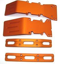 T-Maxx and E-Maxx Orange Anodized Skid Plate and Bumper sets