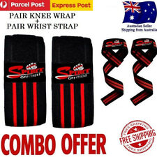 Powerlifting Knee Wraps Bodybuilding Weight lifting Straps Wraps Support Brace