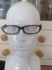 TED BAKER BLACK PRESCRIPTION GLASSES FRAMES AND CASE USED GOOD CONDITION