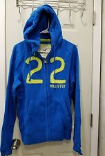 HOLLISTER Men 's 2013 Dude Slim Muscle Fit San Onofre Hoodie COLOR  BLUE &SIZE M