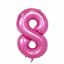 """40"""" Giant Pink Eight Year Old Baby First Birthday 8 Month Number Float Balloon"""