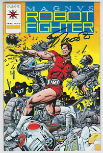 Magnus Robot Fighter #0 Near Mint Minus 9.2 Valiant With Card Jim Shooter AUTO
