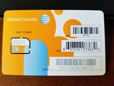 At&T 40954 3G 4G Lte Micro Sim Card