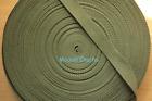 Cotton Polyester Webbing, Belt, Bag, Straps, Army Green, 25mm wide, 1 Metre
