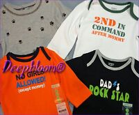 CARTER'S OUTFIT BODYSUIT LONG ONE PIECE BABY BOYS SZ NB 3 6 9 12 18 24 MONTH NEW