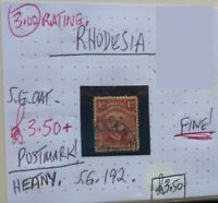 RARE RHODESIA POSTMARK ON STAMP HEANY
