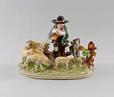 Porzellanfiguren-Gruppe Schäfer mit Schafen Ernst Bohne 25x19cm 97007