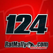 SUPER-PHAT RACE NUMBERS. RATMALLY DECALS STICKERS GRAPHICS x3