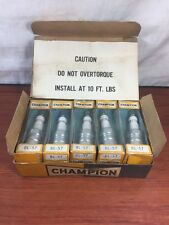 Vintage NOS Box Of Antique Automobile Old Motorcycle Champion BL-57 Spark Plugs
