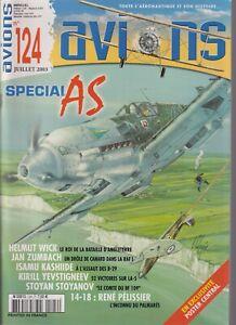AVIONS N°124 SPECIAL AS H WICK / J ZUMBACH / I KASHIIDE / S STOYANOV / PELISSIER