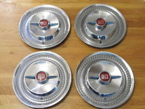 """PRETTY SET 1955 BUICK ROADMASTER 15"""" SPINNER WHEELCOVERS HUBCAPS"""
