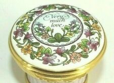 """Halcyon Days 1993 Mothers Day """"Very Much Love"""" Trinket Box"""