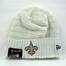 New Era Men's NFL New Orleans Saints Team Colors Winter White Knit Beanie Hat