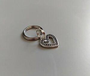 Dog Cat Collar Charm - Silver Heart