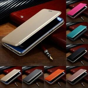 Smart Luxury Leather Magnetic Wallet Flip Stand Case Cover For Samsung Phones