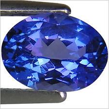 1.10 Ct AA+ Natural D Block Tanzanite Medium Plus Blue Violet Color Oval Cut