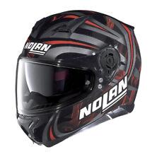 Helmet Moto Nolan N87 Luz LED Black Red 30 Size M Casque Helm