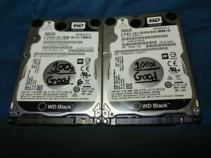 "Lot of 2 (500GB) SATA Laptop 2.5"" (WD) Hard Drives"