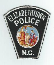 VINTAGE ELIZABETHTOWN, NORTH CAROLINA  POLICE (CHEESE CLOTH BACK) patch