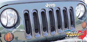 2007-2018 Jeep Wrangler JK Black Grille Inserts Appliques Mopar OEM