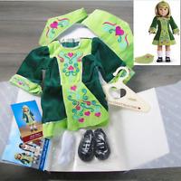 NEW American Girl NELLIE IRISH DANCE DRESS Outfit Shoes Socks Headbands AG BOX