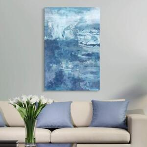 Wall26 - Oil Painting Style Abstract Blue Artwork Gallery - CVS - 24x36 inches