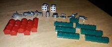 (46) Monopoly Replacement Game Pieces (2) Dice (8) Metal Pieces (36) Red & Green