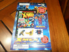 NIP 2006 X-Men Collector's Edition Mini Comic Book/Grow Toy/Tattoo Professor X