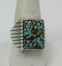 Navajo Indian Ring  50% Off #8 Turquoise Size 13 Sterling Silver Ray Jack