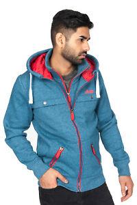 Men Zipper Hoodie Jacket Sweatshirt Double Zipper Casual